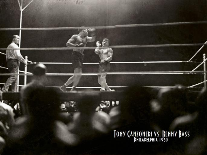 1930_Shibe_Park,_Philadelphia_(Original_Caption)_The_Tony_Canzoneri_-_Bennie_Bass_fight_in_Philly_last_night._